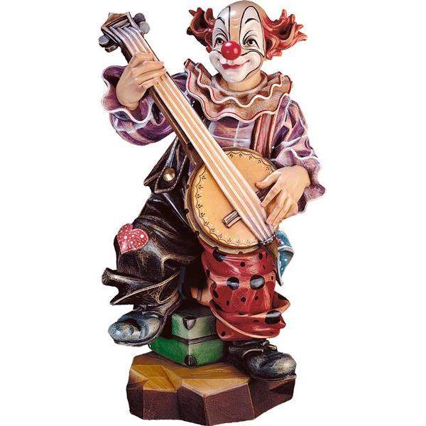 Clown banjo player