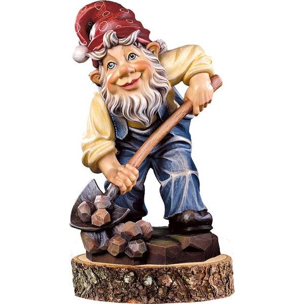 Gnome miner on pedestal