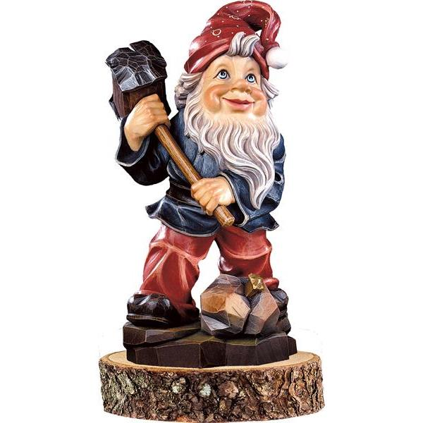 Gnome minerals-collector on pedestal