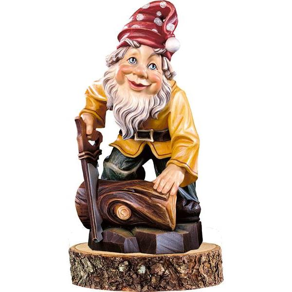 Gnome woodcutter on pedestal