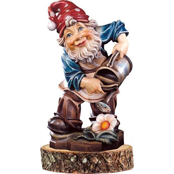 Gnome gardener on pedestal