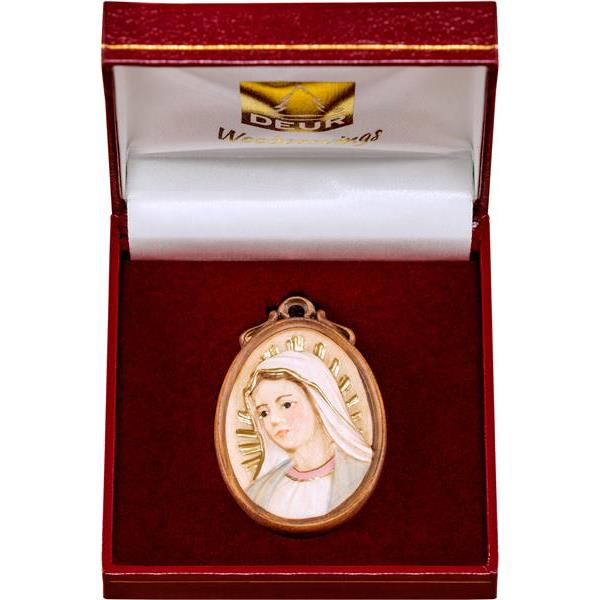 Medallion bust Madonna in a box