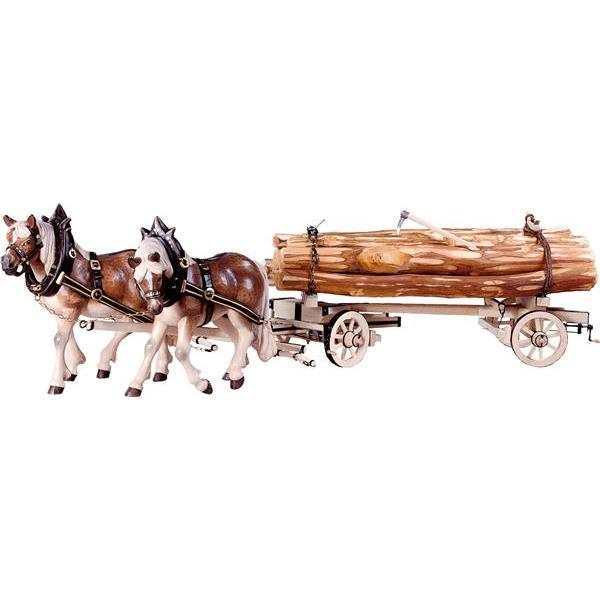 2 Draw-horses with hooped woodcart